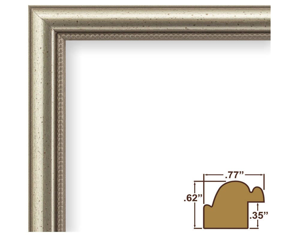 Craig Frames 11x14 Inch Distressed Silver Picture Frame