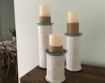 Refabbed Candlestick Holders