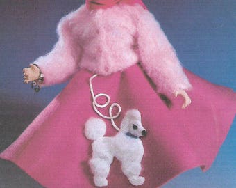 """KK804E – """"Two the Hop""""  - Cloth Doll Clothing Sewing Pattern, PDF Download"""