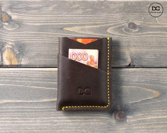 Minimalist wallet, mens slim wallet, slim wallet, slim leather wallet, minimal wallet, personalized wallet, simple wallet, thin wallet