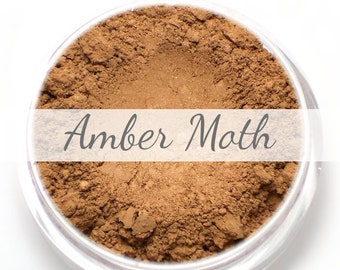 """Mineral Blush Sample - """"Amber Moth"""" rich tawny amber with a golden sheen (vegan)"""