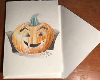 Vampire pumpkin!