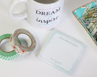 Notes #WORKHARD Notepad | #MintToOrganize