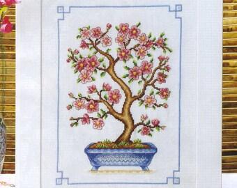 Japanese Bonsai Tree Cross Stitch PDF Chart
