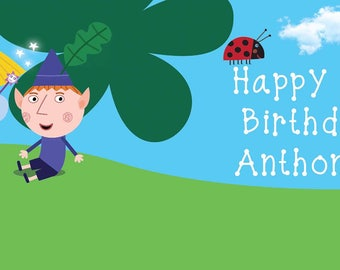 Ben and Holly Birthday Banner