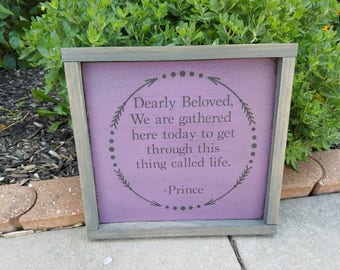 Dearly Beloved Prince Wall Hanging