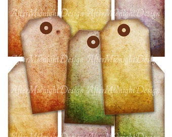 TAGS 65 Grungy Shabby Gift tags Hang tags Vintage style