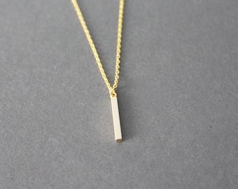 little vertical bar necklace - minimal