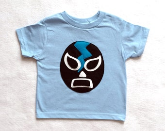 Kids T-shirt - Luchador Negro - Black Mexican Wrestler Kids Shirt - Lucha Libre