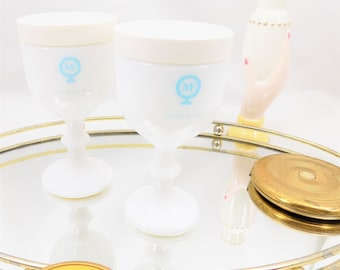 Max Factor Cup of Youth, Face Cream Jars from Max Factor, Pair of Collectible Goblets from Max Factor