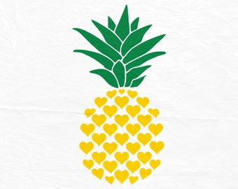 Pineapple svg, Pineapple svg, Svg, Pineapple from hearts, Dxf, Cricut, Silhouette cutting file, Instant download, Svg files.