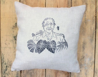 David Attenborough Cushion - Attenborough Portrait Pillow