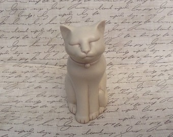 Vintage, Cat, Eclipse Stone Casting, Wales, Cat Figurine, signed