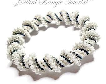 Beading tutorial pattern - Cellini - bracelet - bangle