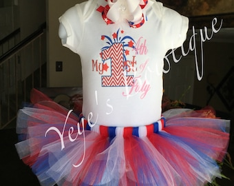 My First Fourth of July Tutu Outfit | My 1st 4th of July | My 1st Fourth of July | My First 4th of July