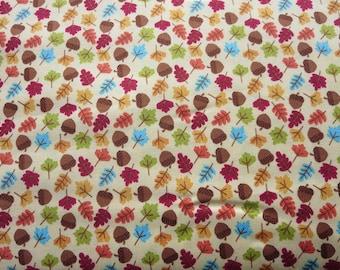 Riley Blake - Happy Harvest Acorns Gold Fabric