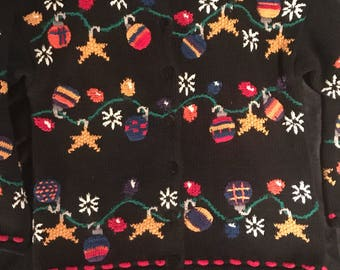 Ugly Christmas Sweater. Vintage Ugly Christmas Sweater. Northern Isles Hand Knitted Sweater.Ugly Christmas Sweater Party. Christmas Sweater.