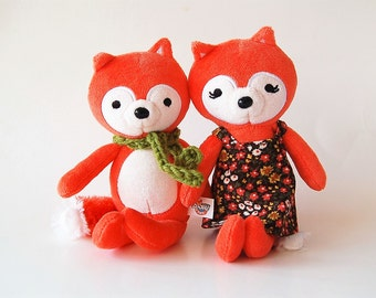 Mr. and Mrs. Fox - Woodland Stuffed Animal Set Of Two Love