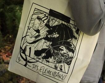 Sherlock Tote Bag | Sherlock Holmes Tote Bag | Hand Screen Printed Sherlock Gift