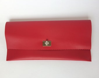 Leather Bridesmaid Clutch