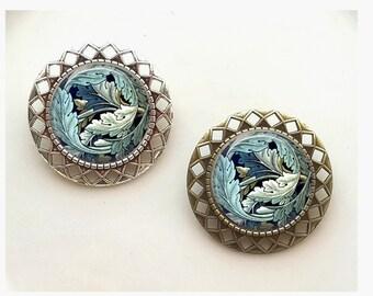 Art Deco Art Nouveau Morris Vintage-y Brooch Jewelry Scarf Clip Pin Badge Jewelry Vintage Gift