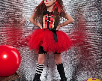 Ring Master tutu costume in red black and gold