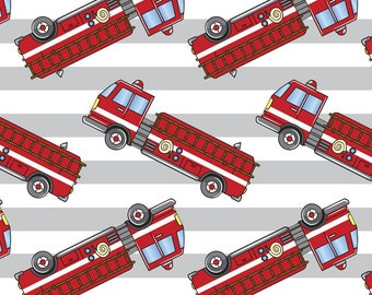 Fire Truck Stripes by David Textiles by the yard
