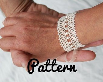 Bracelet tatting pattern - Tatted jewelry pattern - Ankars - shuttle tatting pattern or needle tatting pattern - one shuttle or needle