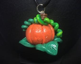 Cute Pumpkin Charm Fall Autumn Necklace