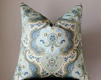 Blue Pillow cover, Throw pillow, Blue Aqua Decorative Pillow, Couch pillow cover, Home Decor, accent pillows, pillow case