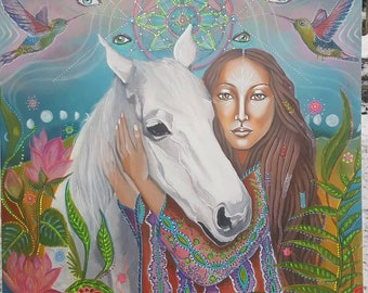 Pure Spirit*-high quality limited edition tapestry print(print on fabric