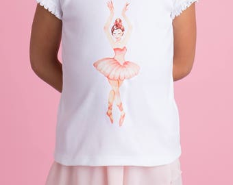 Ballerina Shirt - Ballerina Shirt Toddler - Gift for Ballerina - Ballet Dancer - Dance Recital Gift -  Ballerina Birthday Party -Ballet Gift