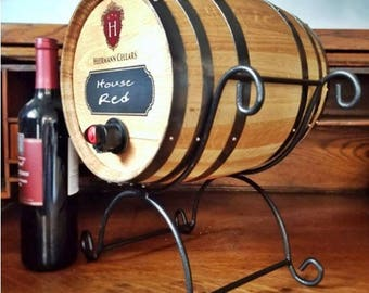 Personalized Wine Bag Barrel with Chalkboard