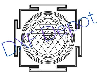 Sri Yantra -  DXF - Vector Art - Clip Art - Png - AI - Jpeg - Pdf - Silhouette - Cricut - Laser Cutting Files