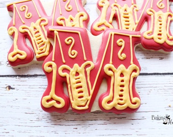 Circus Carnival Initial Cookie, Letter Cookies, Circus Letters, Circus Birthday, Carnival Cookies, Birthday Party Favors