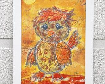 A4 poster children's little Sparrow