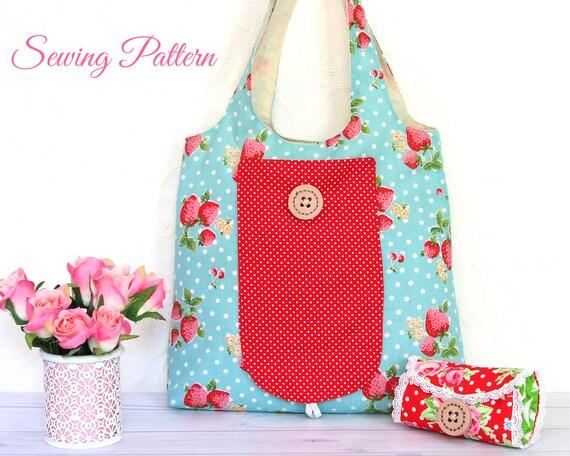 Grocery Bag Pattern, Tote Bag Pattern, Sewing Pattern PDF, Bag ...
