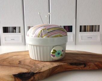 Pincushion - needle minder holder   magnetic needle minder   embroidery   sewing notion   stitching accessory