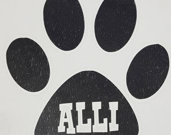 Personalized Cat or Dog Paw
