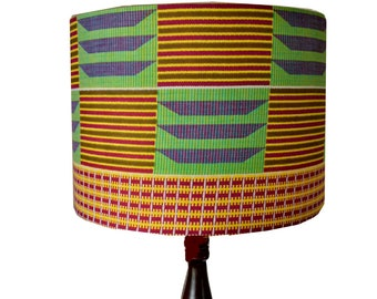 African Drum Lampshade, 20cm table lamp shade, Gift idea under 35 pounds, Wedding Housewarming African Home Decor Gift, DetolaAndGeek