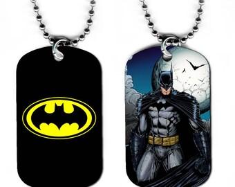 DOG TAG NECKLACE - Batman 3 Bruce Wayne Superhero Comic Book Art
