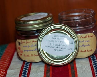 Sandalwood and Vanilla100% soy in flavored oil