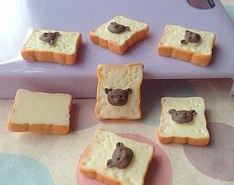 3pcs.13x16mm.Miniature Cabochon Bread,Miniature Bread,Miniature Cabochon,Resin,Miniature Sweet,Dollhouse bread,DIY