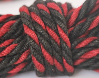 Red & Black Jute Bondage Rope