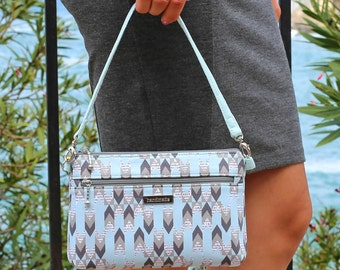Small Zipper Handbag - Zipper Purse - Denver Double Zip Bag - PDF Sewing Pattern