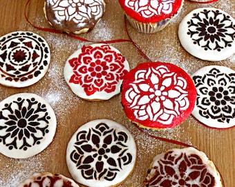 Cupcake & Cookie Stencil