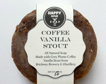 Shaving Soap - Coffee Vanilla Stout Beer Soap - Made from local Omaha beer! - Makes a great Father's Day gift and gift for man! Shave Soap