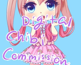 digital chibi commissions PAYPAL ONLY