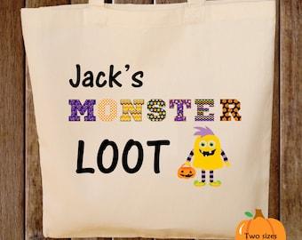 Trick or Treat Bag Monster Halloween Trick or Treat Bag Monster Loot Tote Bag