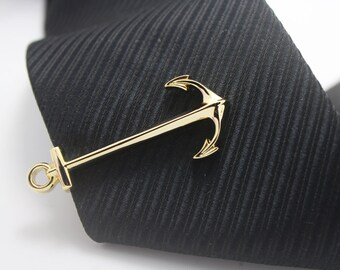 Anchor, Sailor Tie Clip, Seaman Accessories,Gold Accessories, Novelty Accessories, Gift For Man